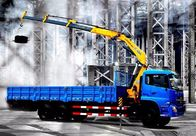 SQ10ZK3Q 10T Truck Mounted Knuckle Boom Cranes With Folding Arm 160L Oil Tank